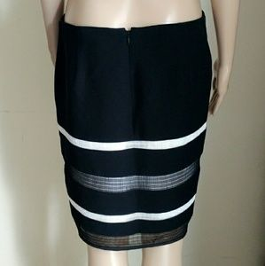 WHBM black and white pencil skirt